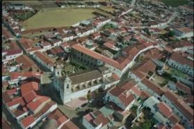 Vista aérea del casco histórico de Ribera del Fresno.