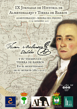 Cartel anunciador de las IX Jornadas de Historia de Almendralejo y Tierra de Barros